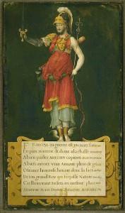 François Ier en déité composite, attribué au Maître des heures d'Henri II, BnF Estampes