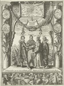 Crispijn II de Passe, Hollands Triomff-Tonneel, 1629, 28,1 x 36,9 cm, gravure (c) Koninklijke Bibliotheek (Den Haag).
