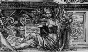 Enea Vico-Germania im Bildnis Karl V.,1550,GMN Nbg,Inv.nr. H 5560